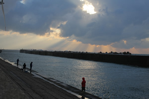 ハタハタ釣り状況 2012.12.12 in 酒田北港 水路