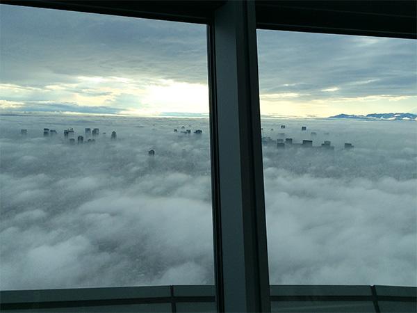 東京スカイツリー雲海