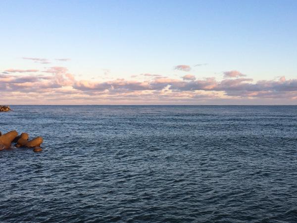 酒田北港 海面の靄