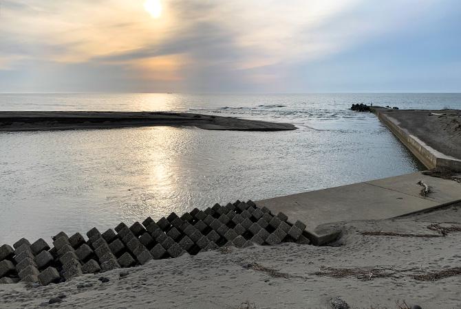 日向川河口(2021.3.27現在)