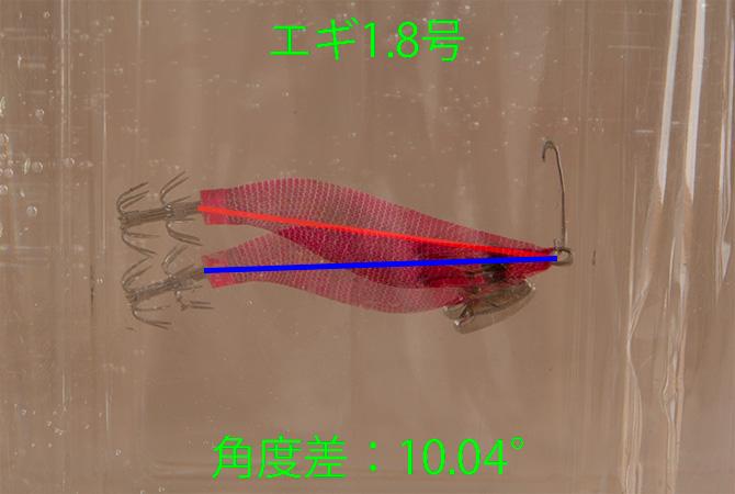 エギのバランス調整(海水と水道水の浮力の違い)