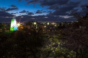 日和山 さくら祭りの夜 20140425