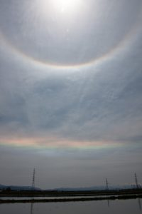 太陽の二重の暈 2011.5.3 am10:30 酒田市